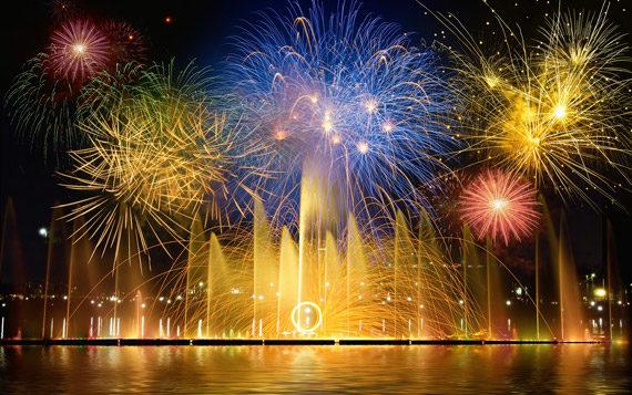 Fuochi d'artificio di prima qualità